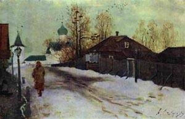 mikhailovsky street in novgorod 1899 XX moscow russia